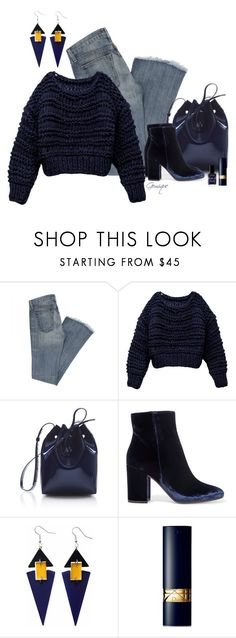 """""""Hand Knit Sweater Time"""" by gemique ❤ liked on Polyvore featuring Mansur Gavriel, Gianvito Rossi, Toolally, Christian Dior and Lauren B. Beauty"""