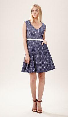 "Julia Jordan - Spring 2014 Collection  A ""denim"" inspired flirty dress"