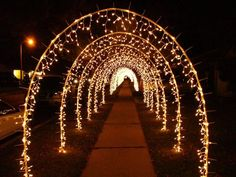 have people hold strands of christmas lights to make a tunnel for the send off