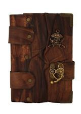 Pirate Cast on a Brown Leather Bound Journal / Notebook / Diary / Sketchbook
