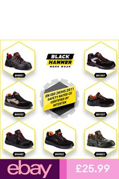 Black Hammer #eBayBoots Clothes, Shoes & Accessories Fabric Shoes, Boot Types, Steel Toe, Work Wear, Trainers, Shoe Boots, Sneakers Nike, Safety, Cap