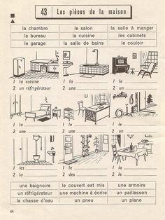 Les pièces de la maison - exercices p44 by pilllpat (agence eureka), via Flickr