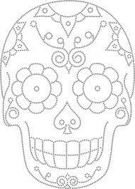 Desenho Caveira Mexicana - Would so use this as a template to carve a pumpkin