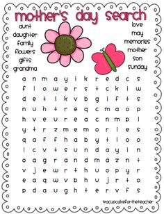 mothers day wordsearch