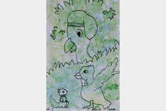 "Artmoney - unique piece of art doubling as a gift card ""Green money 7"""