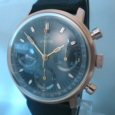 chrono ENICAR gold plated