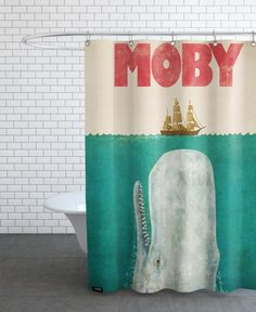 Moby en Rideau de douche par Terry Fan | JUNIQE