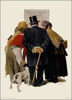 "A Norman Rockwell Classic ""Stock Market"""