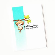 Stamps: Cheeky Monkey, Simply Said Birthday Thanks A Bunch, Animal Cards, Clear Stamps, It's Your Birthday, Monkey, Simple, Cats, Inspiration, Cards