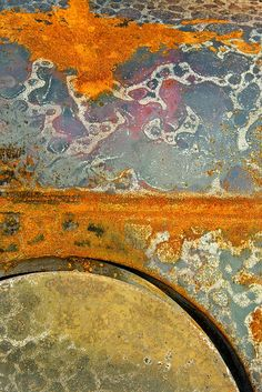 ⇜ Rust Lust ⇝ rusted metal with gorgeous patina - Ponte . Janet Little Jeffers