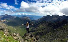 Krasny isle of skye a vrchol Cuiliins Hills. Nejkrasnejsi misto, nikde nikdo…