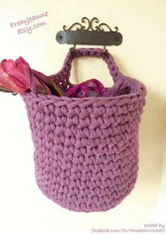 Lila basket to wall