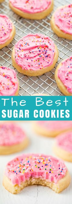 This Sugar Cookie recipe is absolute perfection with a perfectly soft sugar cookie every single time. It's the perfect easy sugar cookie recipe for every occasion! #cookies