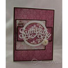 Serendipity Stamps Sympathy Die.   Make a beautiful, memorable Sympathy card.