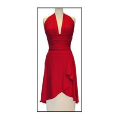 "a red ""tango"" dress"