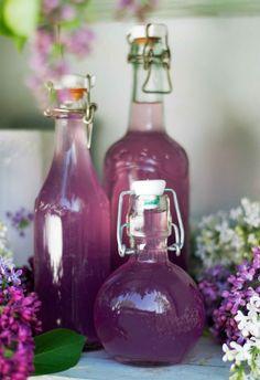 Purpurfärgad blomsaft