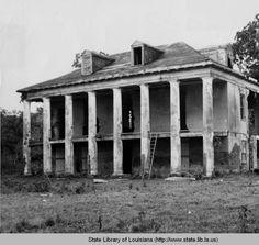 Beauregard House plantation home near New Orleans Louisiana :: State Library of Louisiana Historic Photograph Collection