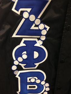 7516ad79770 Pearl Letters are an option for your Custom Crossing Jacket. Zeta Phi Beta