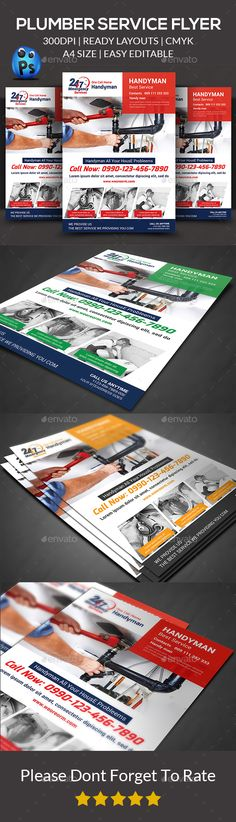 Handyman Services Flyer Template Design By Stocklayouts | Diy