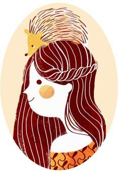 Hedgehog my Friend by Giovanna Medeiros Children's Book Illustration, Hedgehog Illustration, Friends Illustration, Graphic, Illustrations Posters, Art Drawings, Graffiti, Street Art, Character Design