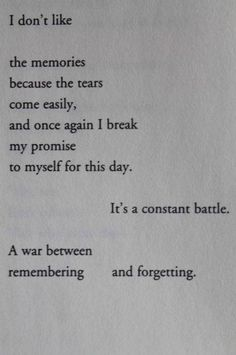 Remembering or forgetting?