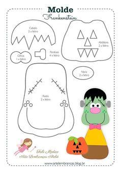 Boo Halloween, Moldes Halloween, Adornos Halloween, Halloween Sewing, Halloween Patterns, Halloween Crafts For Kids, Halloween Cards, Vintage Halloween, Halloween Decorations