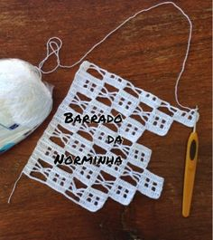 free crochet border edging - Ponto Preso1: Croche - um desafio para Barrar ...