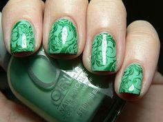 I love green and nail stamping plates.