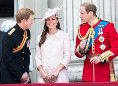Prince Harry, Prince William and Kate Middleton on Saturday, June 15.  Credit: Mark Cuthbert/UK Press via Getty Images