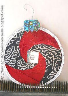 Faerie * Dust * Dreams: Iris Folding Ornament Cards!