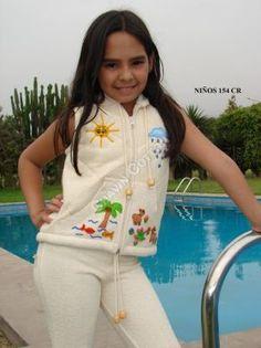 #Kinder #Weste mit #Stickereine 3 - 8 Jahre,  #ökologische #Pima #Baumwolle  Unsere verarbeitete Pima Baumwolle ist naturbelassen und nicht chemisch gefärbt. Natürliche Mode, freundlich zur Haut Ihres Kindes und der Umwelt, aus Peru