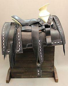 "15"" BLACK MEXICAN CHARRO SADDLE"