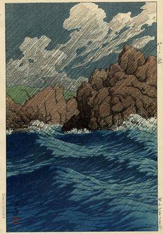 Hachinohe-Same, Kawase Hasui