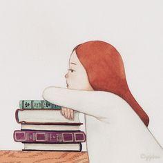 Hay lecturas que nos aburren, que no nos interesan, entonces… cerramos los libros (ilustración de Yejukoo)
