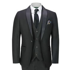 Glamorous and stylish double-breasted black 3 piece suit for men. A black three-piece suit looks especially elegant when worn with a white and black houndstooth overcoat in a modern man's combination. 3 piece suit slim fit black 3 piece suit for wedding three-piece suit three-piece suits the latest designs black 3 piece suite price 3 piece suit price black 3 piece suit with black shirt royal blue 3 piece suit luxury suiting when to wear a three-piece suit men's tan 3 piece suit men's wool… Formal Wedding, Wedding Black, Dinner Jacket, Tuxedo Suit, Black Satin, 3 Piece, Shawl, Thighs, Suit Jacket