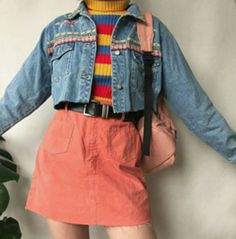 ISABELLE coral skirt- # isabelle # coral skirt- # isabelle # coral skirt - ISABELLE coral skirt # isabelle # isabelle You are in the right place - Look 80s, Look Retro, Retro Outfits, Grunge Outfits, Vintage Outfits, 80s Style Outfits, Hipster Outfits, 80s Inspired Outfits, Yellow Outfits