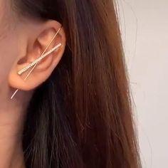 Ear Jewelry, Cute Jewelry, Gold Jewelry, Jewelery, Jewelry Accessories, Jewelry Making, Wire Jewelry Designs, Funky Jewelry, Jewelry Crafts