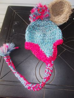 CROCHET HAT Fits Teen To Adult Hand Crochet Soft by RedBudCrafts