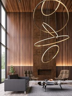 Lampada a sospensione a LED in metallo con dimmer LOHJA by Cameron Design House