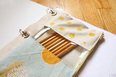 DIY Mixed-Fabric + Clear Vinyl Pencil Case/3-Ring Binder Zippered Pouch with Metal Grommet Reinforcements