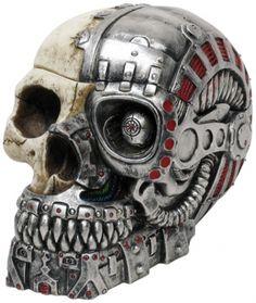 Part human, part robot skull.