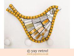 Fiona Gurney: Orange Midwinter Mosaic Bird (£26.00)