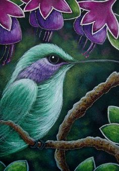 Art '' - by Cyra R Cancel from Oil Pastel Art, Pastel Drawing, Watercolor Pencil Art, Hummingbird Pictures, Hummingbird Painting, Chalk Pastels, Dry Pastels, Easy Canvas Painting, Artist Portfolio