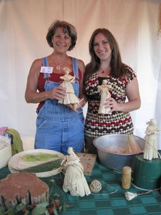 Corn Shuck Doll Making! Stop by and watch Vicki and Liza....they create the most detailed dolls from corn husks.