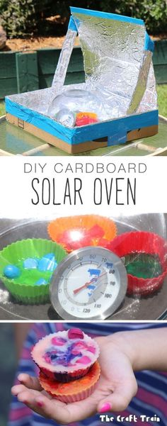 DIY Solar oven experiment DIY Solar Oven from a repurposed cardboard box. This is a great experiment for kids to learn about solar energy and sustainability. Kid Science, Summer Science, Preschool Science, Elementary Science, Science Experiments Kids, Teaching Science, Science Chemistry, Physical Science, Space Crafts Preschool