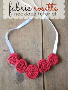 Craft, Bake, Sew, Create: Fabric Rosette Necklace Tutorial