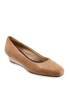 Trotters Taupe Lauren Wedge