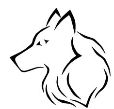 simple wolf drawing native american pinterest drawings wolf
