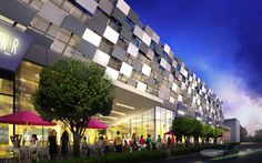 Cool parking garages - Arquitectonica's Sunset Harbour Garage, Miami - mixed use, attractive design