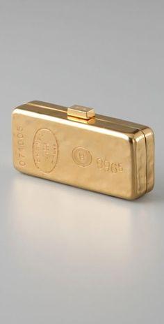 Vintage Chanel Gold Bar Clutch